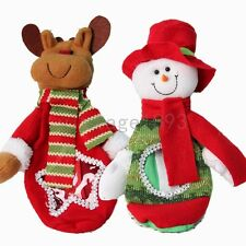 Christmas Xmas Snowman Deer  Sweet Candy Doll Gift Bag Box Tree Decoration Toy