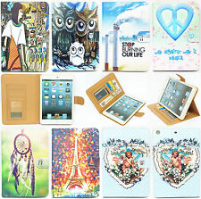 New Stand PU Leather Card Slots Folio Case Cover For Apple iPad 2/3/4/5 Air mini