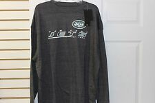 New York Jets Charcoal Heather 2 Hit NFL Team Apparel T Shirt Big and Tall