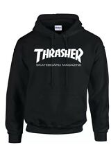 New Thrasher Black and White Thrasher Hoodie Free Delivery.
