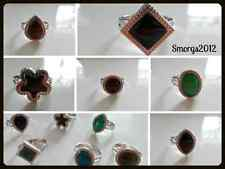 Silver Tone Adjustable Mood Ring Choice of Shape 12 changing colours