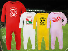 ABERDEEN Football Baby Romper Suit Sleep Personalised Gift-Any team/colour DONS