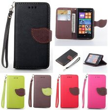 Leaf Wallet Case For Nokia N520/Sony Z1 Z2 Z3 Mini/Motorola Moto G/HTC M8/LG G3