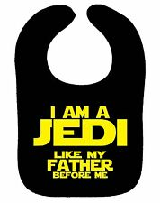 STAR WARS BIB I AM A JEDI LIKE MY FATHER BEFORE ME JEDI MASTER ASST COLOURS NEW