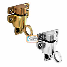 Solid Polished Brass/Chrome FANLIGHT CATCH for Loft, Hatch, Sash Window Boat