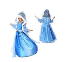 XMAS Gift Frozen Disney Elsa Queen Anna Princess Fancy Dress Cosplay Costume