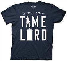 Doctor Who 12th Doctor Time Lord Silhouette Navy Adult T-Shirt