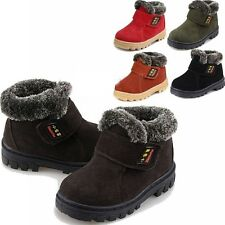 Fashional Girls Boys Boots Kids Children Cotton Leather Shoes Snow Boots Winter