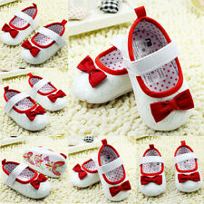 Toddler Crib Shoes Infant Cotton Bow Dot Soft Bottom Baby Newsborn Shoes 0-18M