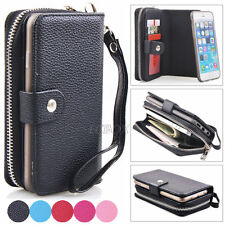 Zipper Purse Pouch Credit ID PU Leather Holder Pocket Case For iPhone 6 & 6 Plus