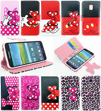 Polka Dots Bowtie Case For Samsung Galaxy S3/4/5 mini Note3/4 S7562 i8262 G355H
