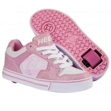 Heelys Motion Trainers - Girls Heelys Skate Shoes - Pink/ White - Size 12 - 5