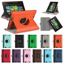 """Rotating PU Leather Stand Case Cover For Amazon Kindle Fire HD 7"""" 2nd Gen 2013"""