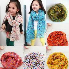 Toddlers Kids Baby Girls Snood Scarf Voile Dots Scarves Shawls Wrap Neckerchief