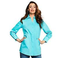 New JOAN RIVERS Classic Tailored Shirt pockets Pearl Buttons A214052 Many sizes