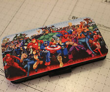 iphone 4 4s  5 5s marvel Characters spiderman hulk PU leather flip case cover