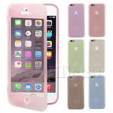 CRYSTAL CLEAR ULTRA SLIM FLIP TPU GEL SILICONE SOFT CASE COVER FOR IPHONE 6 4.7""