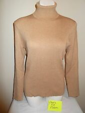 BRAND NEW Chico's Size 1 2 3 Reagan Turtleneck Sweater Heather Arabian Camel Tan