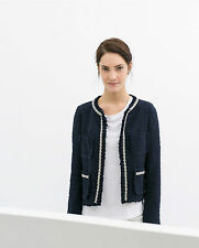 ZARA COMBINED TWEED JACKET BNWT - SIZE: XS/S/L/XL SOLD OUT IN STORES & ONLINE