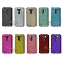 For LG G3 Vigor,D725 TPU Silicone Gel Brushed Color Case Cover +Screen Protector