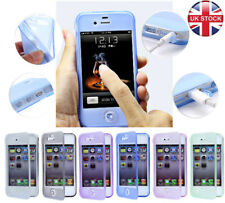 NEW TOUCHSCREEN SILICONE GEL FLIP CASE COVER FOR APPLE IPHONE 4S/5S/5C+Screen