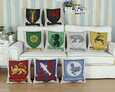 "18"" X 18"" A Game of Thrones Houses Flags Cushion Covers Pillows Shell Home Car"