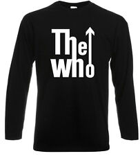 New THE WHO Logo Legendary Rock Band Long Sleeve Black T-Shirt Size S to 3XL
