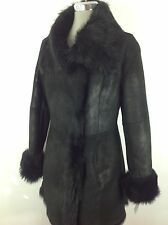 Andrew Marc NWT Luxurious / Modern BLACK Real Lamb Shearling Coat-Made in Turkey