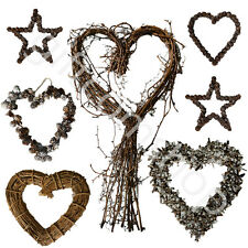 New Gisela Graham Natural Twig Heart Wreath Wedding Gift  Heart Home Decoration