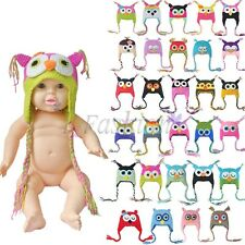 1 Set Baby Girls Boy Newborn-24M Knit Crochet Clothes Photo Prop Xmas Hat Cap