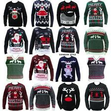 MENS LADIES XMAS CHRISTMAS JUMPER SWEATER SNOWMAN REINDEER TANKTOP =S M L XL XXL