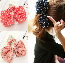 Lovely Rabbit Ear Bow Headband Ponytail Holder Hair Tie Band Korean Style
