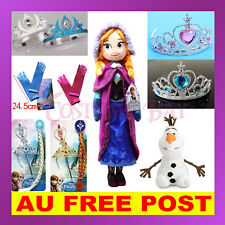 Frozen Princess Disney Elsa Anna Olaf Doll Toy Tiara Set Crown Glove Accessories