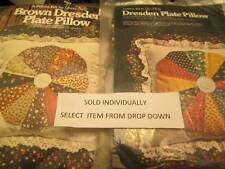 Yours Truly Dresden Plate Pillow Quilt Kit-Your Choice Brown OR Calico Prints-15