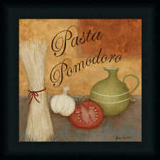 Pasta Pomodor by Jane Italian Kitchen Décor Framed Art Print Wall Décor Picture
