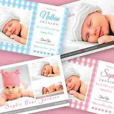 50 Personalised Baby Girl Thank You Cards with envelopes - girls and boys