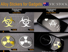 Resident Evil Biohazard Radiation Symbol Ipad Iphone Bike Car Alloy Sticker