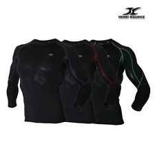 Mens Muscle Holding Long Sleeve Compression Shirt Base Layer Spandex Fabric LI