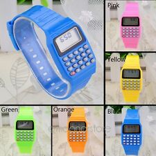 Unisex Kid Children Date Multi-Purpose Electronic Wrist Calculator Watch 1PCS LU