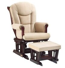 Glider Rocker Chair & Ottoman Combo for Baby Nursery Relaxing Reliable Shermag