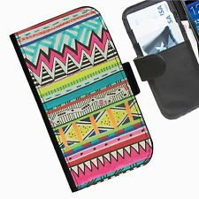 Neon colourful Leather wallet personalised phone case for Samsung Galaxy phones