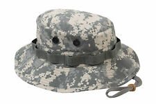 Rothco Rip Stop Military Boonie Bucket Hat - ACU Digital - Adjustable Chin Strap