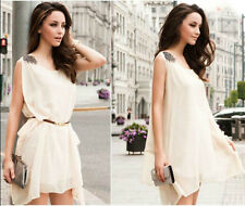 New spring and summer 2014 women's catwalk chiffon dress (send belt) 3832 #