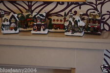 Christmas Light up battery operated Mini village Houses Sold in 1,2,4 or 6