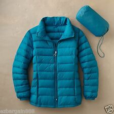 New $150 TravelSmith Women's Packable Down Sweater Jacket - 90% Down, S/M/L/XL