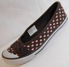 NEW Girl's Youth UNIONBAY NEWPORT MINI HEARTS Canvas Flats Casual Dress Shoes
