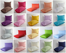 Solid Colour Pillow Case Cushion Cover Cotton 18 COLORS (Single One/PAIR OF TWO)