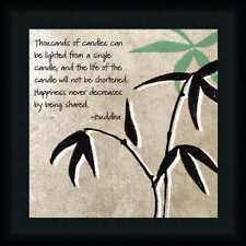 Happiness Never Decreases by Being Shared Buddha Quote Sign Framed Art Print