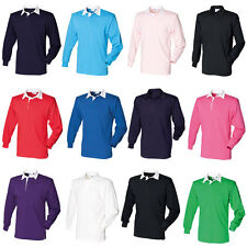 New FRONT ROW Mens Casual Long Sleeve Classic Rugby Style Shirt 14 Colours S-4XL