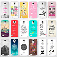 Quote Phone Cases for Samsung Galaxy Range. Inspirational Life & Love Sayings